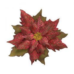 Tim Holtz – Sizzix Layered Tattered Poinsettia Bigz/Texture Fades