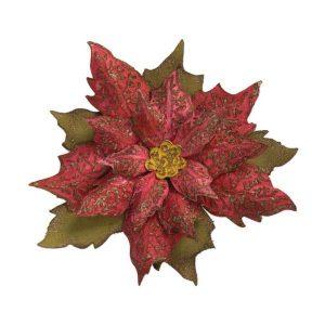 Sizzix - Tim Holtz Bigz/Texture Fades - Layered Tattered Poinsettia class=