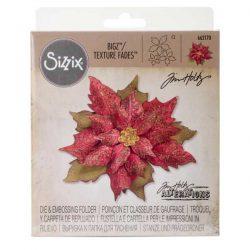 Tim Holtz - Sizzix Layered Tattered Poinsettia Bigz/Texture Fades
