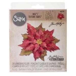 Sizzix - Tim Holtz Bigz/Texture Fades - Layered Tattered Poinsettia