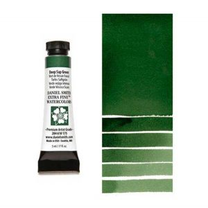 Daniel Smith 5ml Extra Fine Watercolor – Deep Sap Green class=