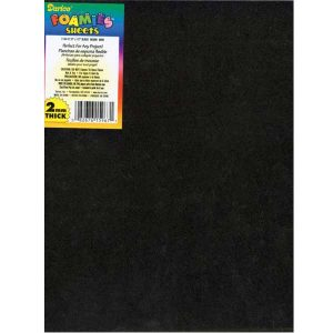 "Darice Black Foam Sheet 9"" x 12"", 2mm"