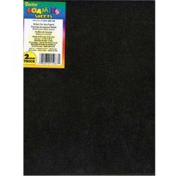 "Darice Black Foam Sheets (10pk) - 9"" x 12"", 2mm"