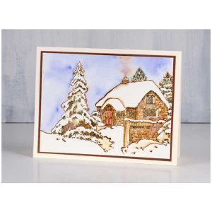 Penny Black Snowy Cottage class=