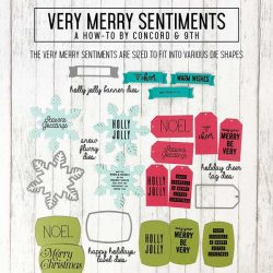 Concord & 9th Very Merry Sentiments Stamp Set