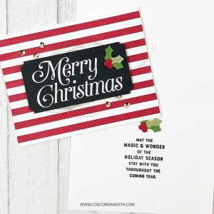 Concord & 9th Very Merry Sentiments Stamp Set class=