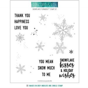 Concord & 9th Snowflakes Turnabout Stamp