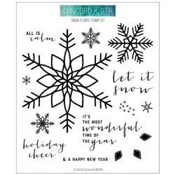 Concord & 9th Snow Flurry Stamp Set