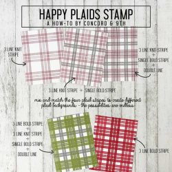Concord & 9th Happy Plaids Stamp Set