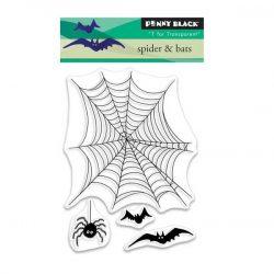 Penny Black Spider & Bats Clear Stamp