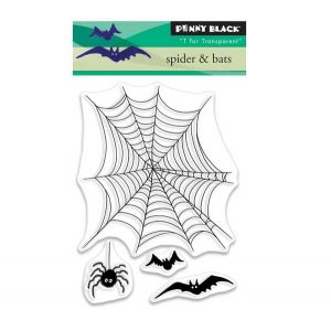 Penny Black Spider & Bats Clear Stamp