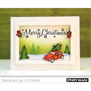 Penny Black Hometown Christmas Clear Stamp Set class=