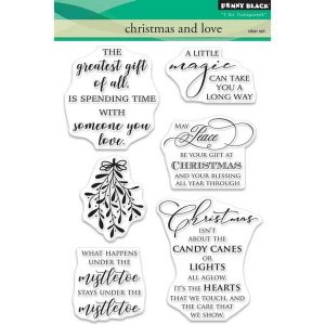 Penny Black Christmas and Love Stamp Set class=