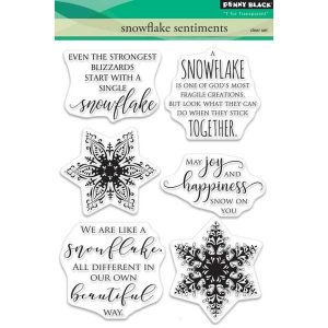 Penny Black Snowflake Sentiments Stamp Set class=