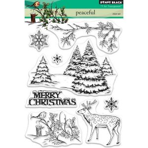 Penny Black Peaceful Clear Stamp Set