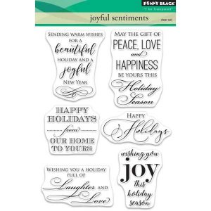 Penny Black Joyful Sentiments Stamp Set