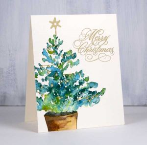 Penny Black Christmas Glow Cling Stamp class=