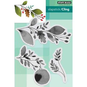 Penny Black Xmas Sprig Cling Stamp
