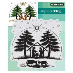 Penny Black Nativity Cling Stamp