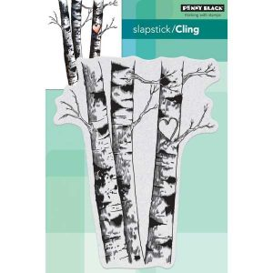 Penny Black Birches Cling Stamp