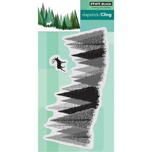 Penny Black Pine Forest Cling Stamp