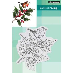 Penny Black Cheerful Christmas Cling Stamp