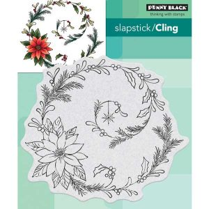Penny Black Poinsettia Spiral Cling Stamp