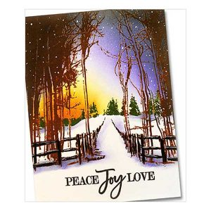 Penny Black Snow Trails Cling Stamp class=