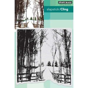 Penny Black Snow Trails Cling Stamp