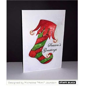 Penny Black Elf Stocking Cling Stamp class=