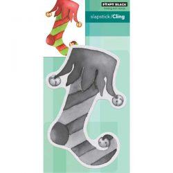 Penny Black Elf Stocking Cling Stamp