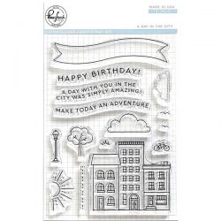 Pinkfresh Studio A Day in the City Stamp Set