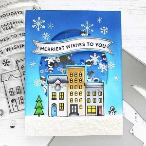 Pinkfresh Studio Home for the Holidays Stamp Set class=