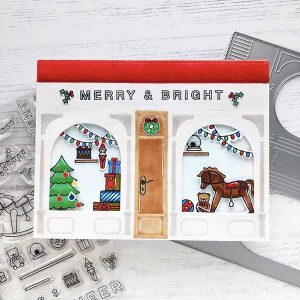 Pinkfresh Studio Merry and Bright Toy Shop Stamp Set class=