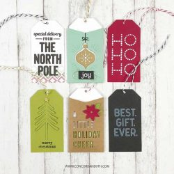 Concord & 9th Holiday Cheer Tag Stamp Set