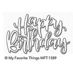 My Favorite Things Happy Birthday Script Die-namics