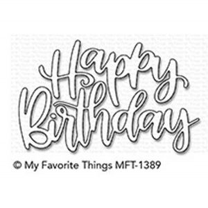 My Favorite Things Happy Birthday Script Die-namics