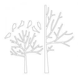Penny Black Winter Trees Creative Dies