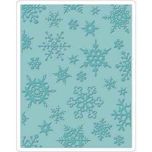 Sizzix - Tim Holtz Texture Fades Embossing Folder - Simple Snowflakes class=