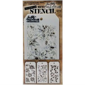 Tim Holtz Mini Layering Stencil, Set #19