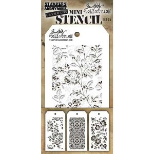 Tim Holtz Mini Layering Stencil, Set #25