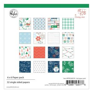 "Pinkfresh Holiday Vibes Paper Pack - 6"" x 6"""