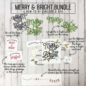 Concord & 9th Merry & Bright Stamp Set class=