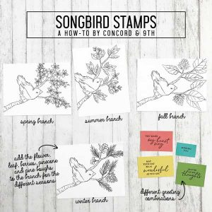 Concord & 9th Songbird Stamp Set class=