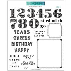Concord & 9th Notable Numbers Stamp Set
