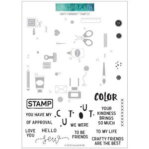 Concord & 9th Crafty Turnabout Stamp Set
