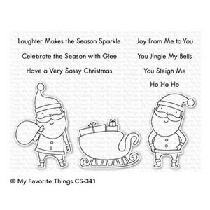 My Favorite Things Sassy Santa Stamp Set