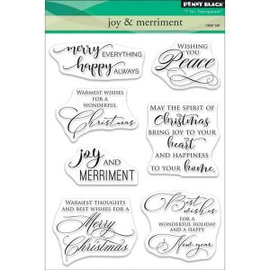Penny Black Joy & Merriment Clear Stamp Set class=
