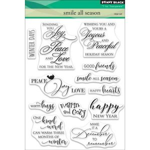 Penny Black Smile All Season Clear Stamp Set class=