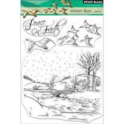 Penny Black Winter Days Clear Stamp Set